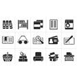 Black Library and books Icons vector image vector image