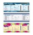 Airplane tickets vector image vector image