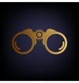 Binocular sign Golden style icon vector image