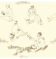 Seaml Women on beach-05 vector image