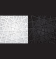 abstract black and white lines futuristic overlap vector image