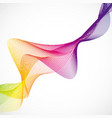 colorful wavy lines on white background vector image