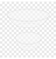 Glass Bowl transparent vector image