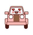 kawaii jeep car camping transport adventure vector image