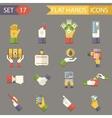 Retro Business Hands Symbols Finance Accessories vector image