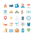 Travel and Tourism Colored Icons 1 vector image