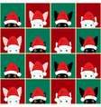 Black White Rabbit Cat Chess board Christmas vector image