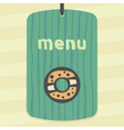 outline sweet donut icon modern infographic logo vector image