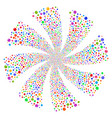 sphere fireworks swirl rotation vector image
