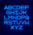 thin neon tube modern font vector image vector image