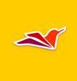 bright bird logo vector image