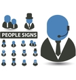 people signs vector image