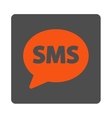 SMS Rounded Square Button vector image