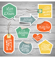 slogans stickers abstract dream vector image