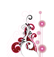 cheerful artistic background vector image