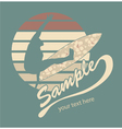 summer t-shirt design vector image vector image
