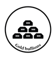 Gold bullion icon vector image