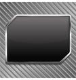 Black Metallic Frame vector image