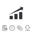 chart with arrow sign success diagram symbol vector image