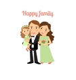 Happy family with young daughter vector image