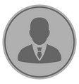 manager silver coin vector image