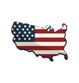 Map with flag inside to celebrate patrotism vector image