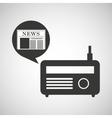 radio icon news bubble speech design vector image