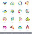 Set of Abstract Design Elements or Icons vector image