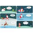 Set of Christmas banners 2 vector image