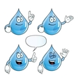 Smiling water drop set vector image