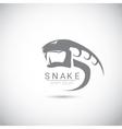 snake simple black logo design element vector image