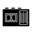 tape recorder icon black vector image