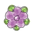 watercolor flower cartoon vector image