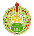 guitar on ornate mandala background vector image