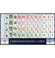 Christmas playing cards vector image
