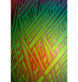 vivid green red grass abstract glitch vector image