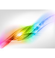 background rainbow shine vector image vector image