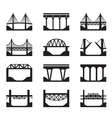 Various types of bridges vector image vector image