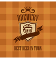 banner with beer label vector image vector image