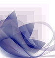 blue waves transparent and flower pattern vector image