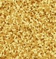 Golden hearts seamless pattern vector image vector image