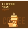 Coffee cup and muffin vector image