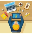 Work Place Designer Flat Icon Poster vector image