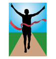 runner vector image