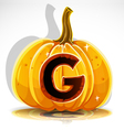 Halloween Pumpkin G vector image