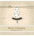 Grunge vintage Christmas background vector image