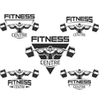 Icons for bodybuilding and fitness vector image