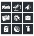 Necessary accessories car driver Icon set vector image