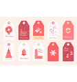 new year stickers for gifts and clothes christmas vector image