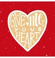 Romantic love poster with heart vector image